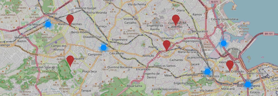 O mapa de compras em Campinas, São Paulo