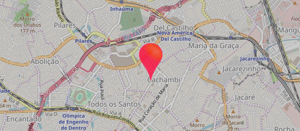 Mapa da CHILLI BEANS no Center Shopping Uberlândia