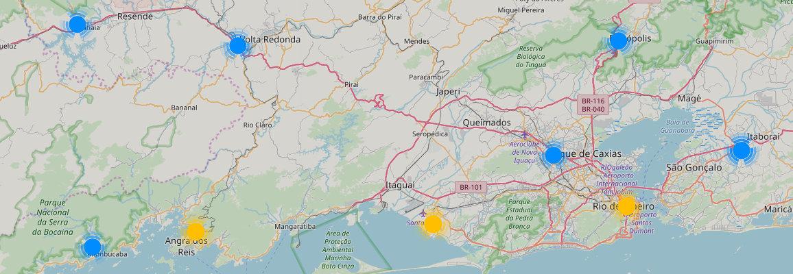 Lojas 3 Corações em Ceará exibidas no mapa